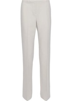 Elie Tahari Woman Theora Crepe Straight-leg Pants Light Gray