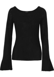Elie Tahari Woman Weslyn Ribbed Wool Sweater Black