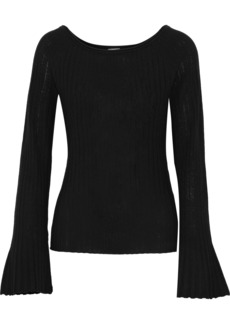 Elie Tahari Woman Weslyn Ribbed Wool Sweater Black