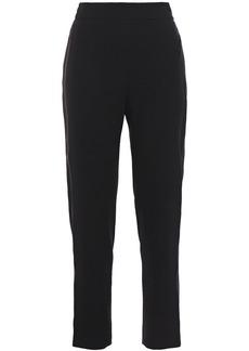 Elie Tahari Woman Willa Satin-trimmed Crepe Tapered Pants Black