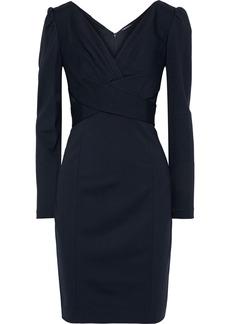 Elie Tahari Woman Zoe Crossover Jersey Mini Dress Midnight Blue