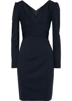 Elie Tahari Woman Zoe Crossover Jersey Mini Dress Midnight Blue