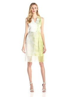 Elie Tahari Women's Ally Mangrove Print Cotton Pique Convertible Dress