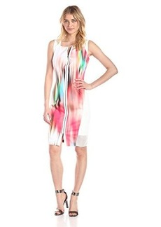 Elie Tahari Women's Davis Color Blur Sheath Dress