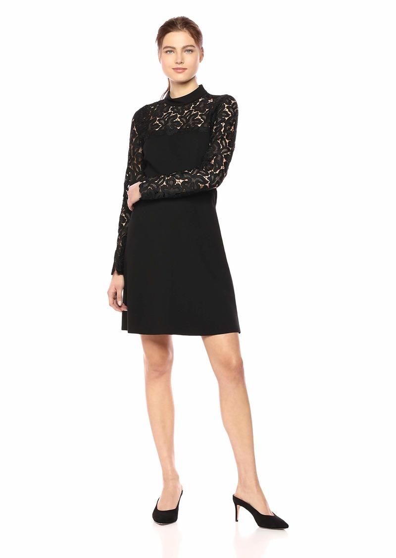 Elie Tahari Women's Double Knit Ponte LACE Inlay Jenessa Dress