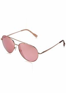 Elie Tahari Women's EL238 Aviator Sunglasses RosegoldTortoise & Pink