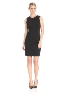 Elie Tahari Women's Emory Double Knit Sleeveless Crew Neck Sheath Dress
