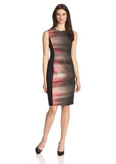 Elie Tahari Women's Isabella Velocity Print Mesh Panel Dress