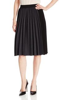 Elie Tahari Women's Jayde Stretch Flannel Colorblock Pleated Skirt