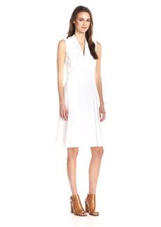 Elie Tahari Women's Jessy Cotton Poplin Pleated Dress
