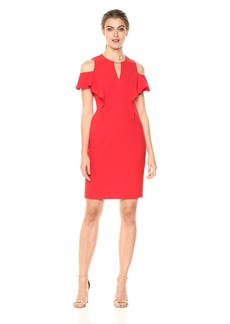 Elie Tahari Women's Johari Dress Glossy red
