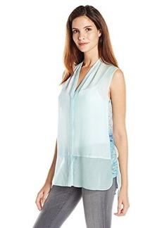 Elie Tahari Women's Jonie Etherial Print Silk Blouse  X-Small