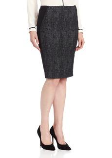 ELIE TAHARI Women's Kelsa Graphic Speckle Tweed Pencil Skirt