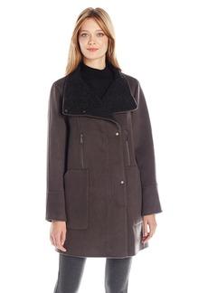 Elie Tahari Women's Laura Oversized Wool Zip Coat  M