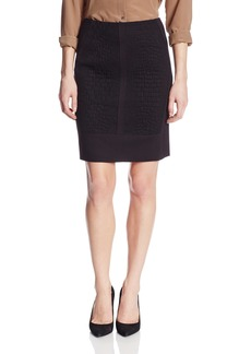 Elie Tahari Women's Marcella Crocodile Jacquard Pencil Skirt