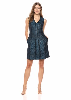 Elie Tahari Women's Metallic Jacquard Tameeka Dress