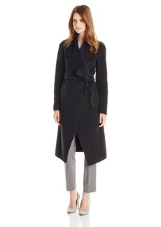 Elie Tahari Women's Milano Drape Front Wool Coat  Medium/Large