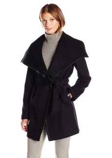 Elie Tahari Women's Natasha Wool Wrap Coat  L