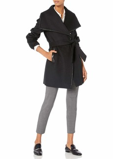 Elie Tahari Women's Natasha Wool Wrap Coat  XL