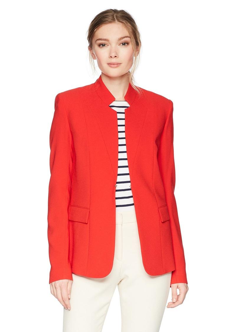 Elie Tahari Women's Safina Jacket Glossy red