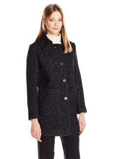 Elie Tahari Women's Stella Boucle Topper Wool Coat  M