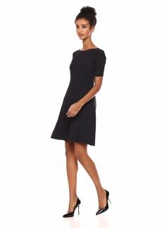 Elie Tahari Women's Stretch Houndstooth Kelsey Dress