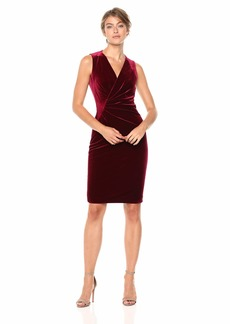 Elie Tahari Women's Stretch Velvet Ruched Dress