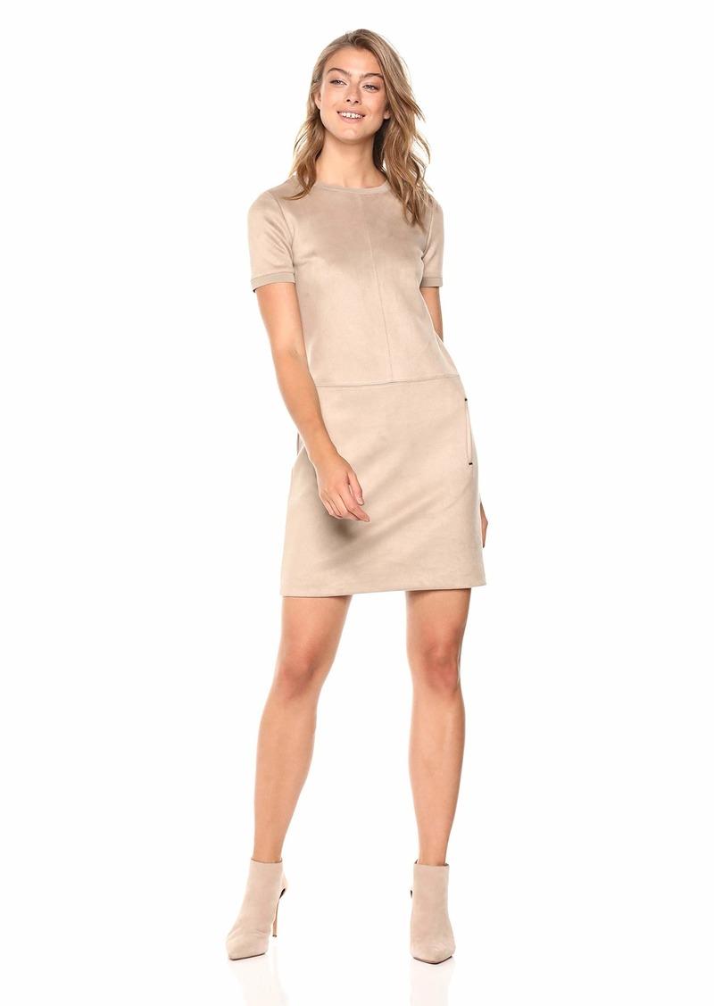 Elie Tahari Women's Sueded Scuba Bridgett Tunic Dress