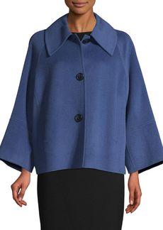 Elie Tahari Wool-Blend Swing Jacket