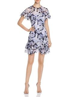 Elie Tahari Yonica Floral-Burnout Dress