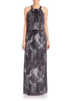 Elie Tahari York Printed Maxi Dress