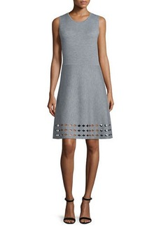 Elie Tahari Zita Sweater Dress W/Cutout Hem