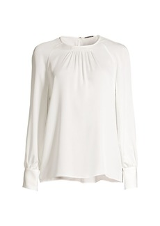 Elie Tahari Eliza Draped Silk Blouse