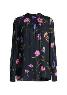 Elie Tahari Eliza Floral Silk Blouse