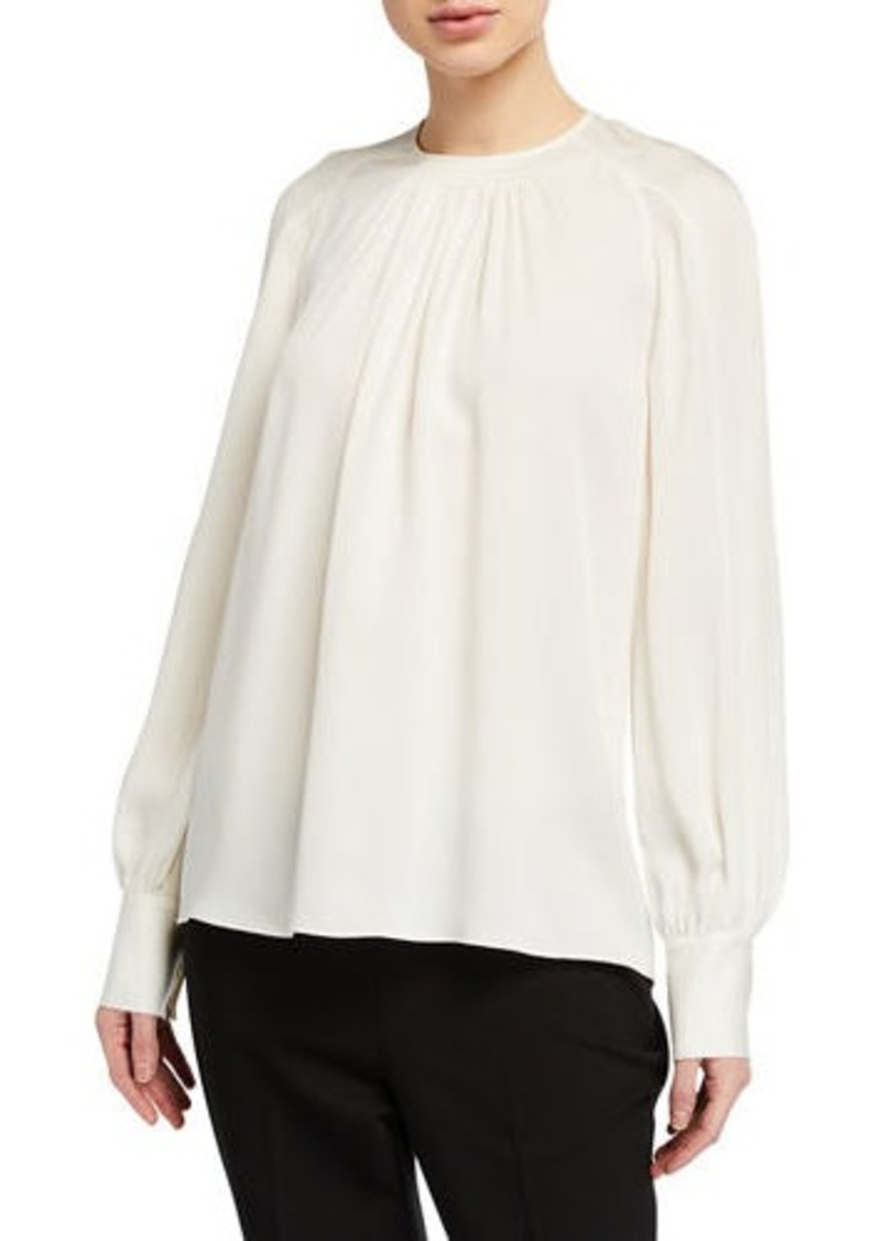 Elie Tahari Eliza Long-Sleeve Silk Shirt