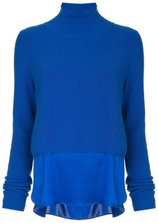 Elie Tahari elongated panel cashmere sweater