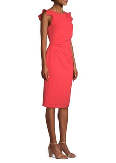 Elie Tahari Elsie Ruffle-Sleeve Sheath Dress