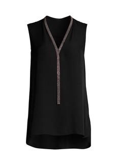 Elie Tahari Emamra Chain Silk Top