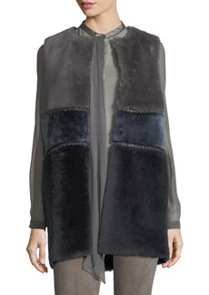 Emily Colorblocked Shearling Vest