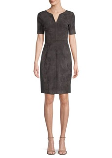 Elie Tahari Emily Suede Shift Dress