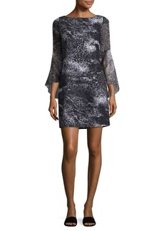 Elie Tahari Esmarella Bell-Sleeve Dress