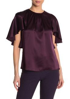 Elie Tahari Evangeline Cape Sleeve Silk Blouse