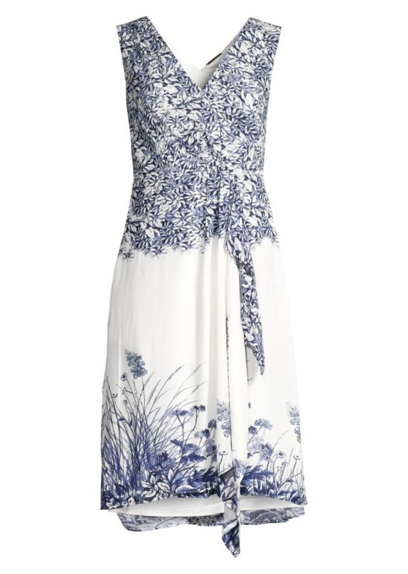 Elie Tahari Everdeen Floral Wrap Dress