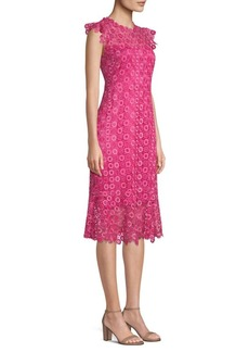 Elie Tahari Florance Lace Midi Dress