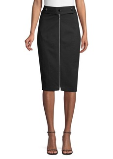 Elie Tahari Genisis Zip-Front Pencil Skirt