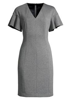 Elie Tahari Geraldine Flutter-Sleeve Dress
