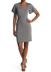 Elie Tahari Geraldine Flutter Sleeve Dress