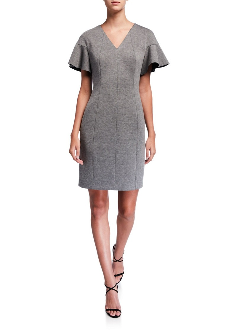 Elie Tahari Geraldine Short-Sleeve Dress