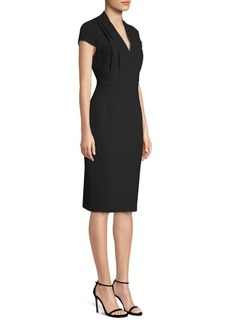 Elie Tahari Gerarda Short Sleeve Sheath Dress