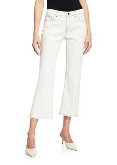 Elie Tahari Gianina Cropped Flare Jeans